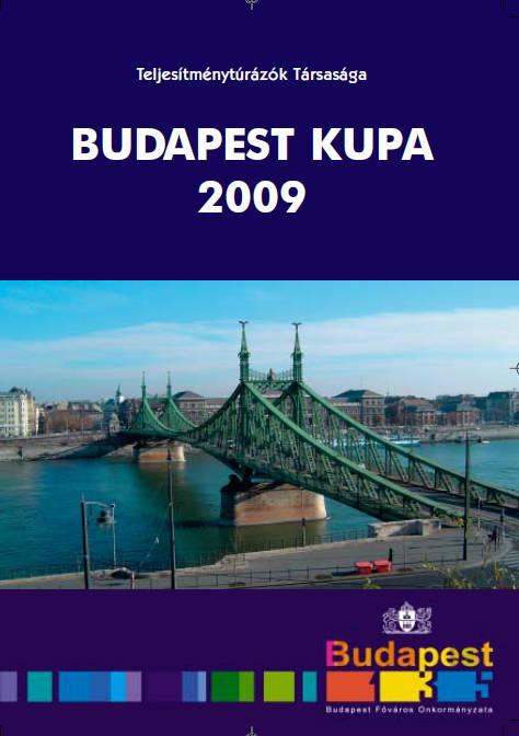 Budapest Kupa 2009 teljesítménytúra mozgalom igazoló füzet címlap