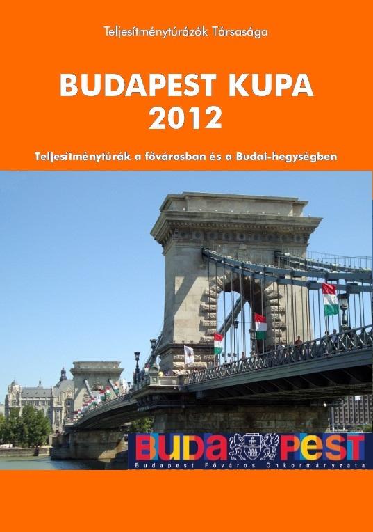 Budapest Kupa 2012 teljesítménytúra mozgalom igazoló füzet címlap