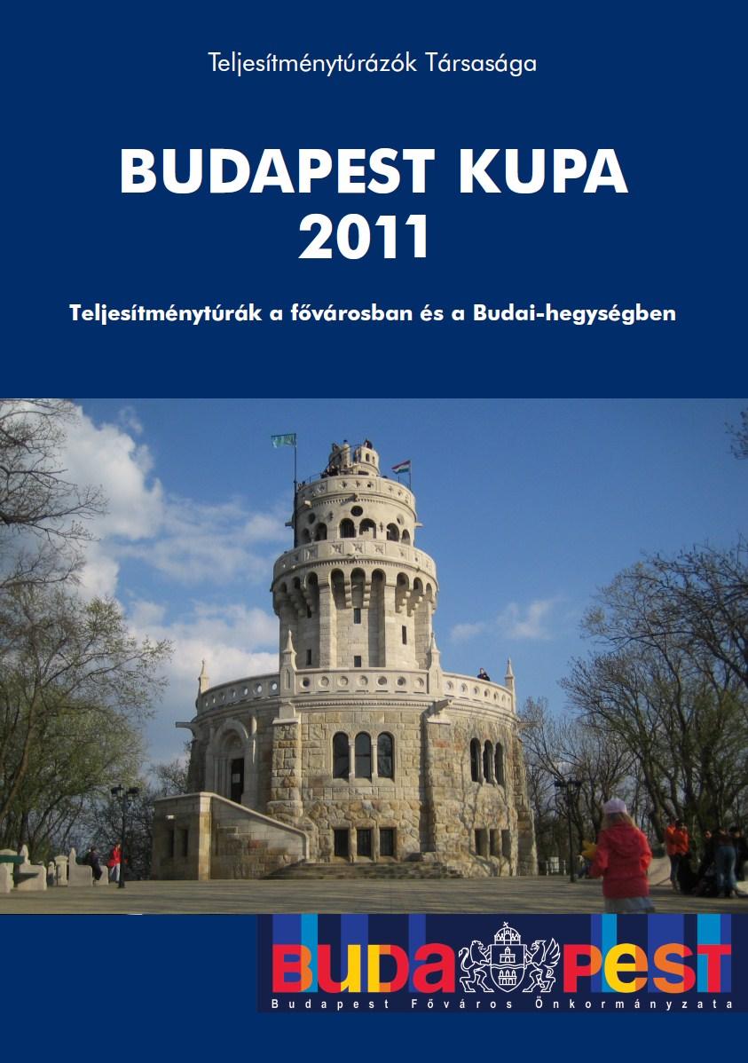 Budapest Kupa 2011 teljesítménytúra mozgalom igazoló füzet címlap