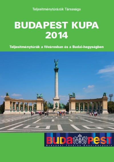 Budapest Kupa 2014 teljesítménytúra mozgalom igazoló füzet címlap