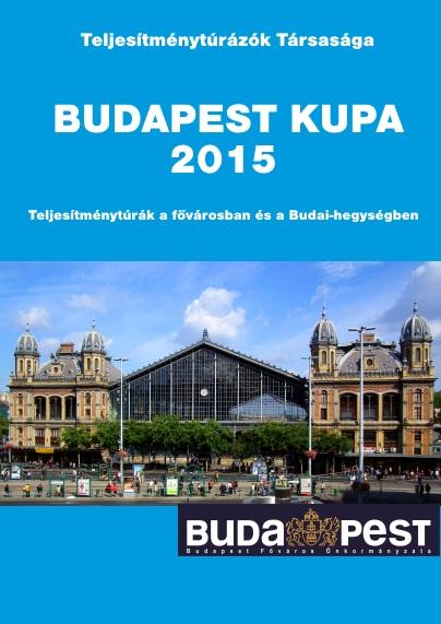 Budapest Kupa 2015 teljesítménytúra mozgalom igazoló füzet címlap