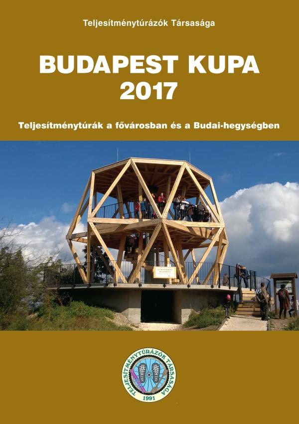 Budapest Kupa 2017 teljesítménytúra mozgalom igazoló füzet címlap