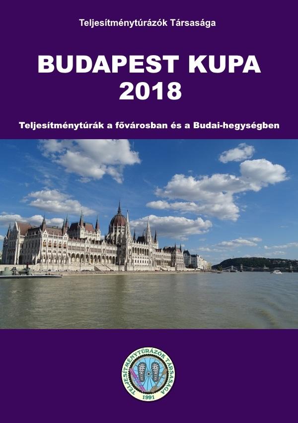 Budapest Kupa 2018 teljesítménytúra mozgalom igazoló füzet címlap