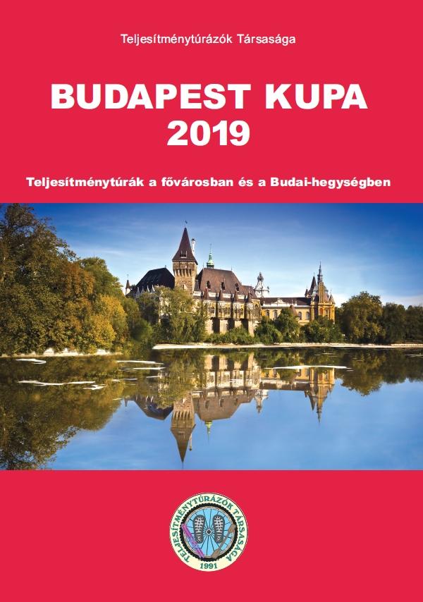 Budapest Kupa 2019 teljesítménytúra mozgalom igazoló füzet címlap