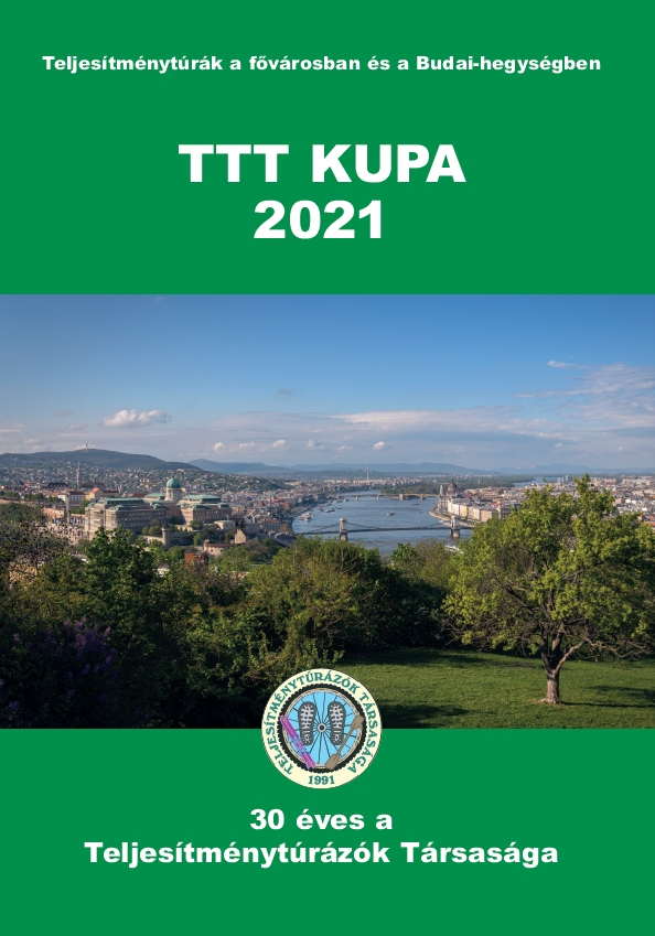 TTT Kupa 2021 teljesítménytúra mozgalom igazoló füzet címlap