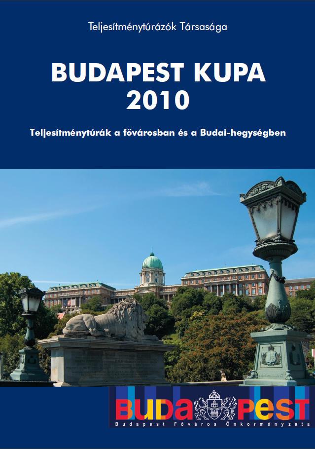 Budapest Kupa 2010 teljesítménytúra mozgalom igazoló füzet címlap