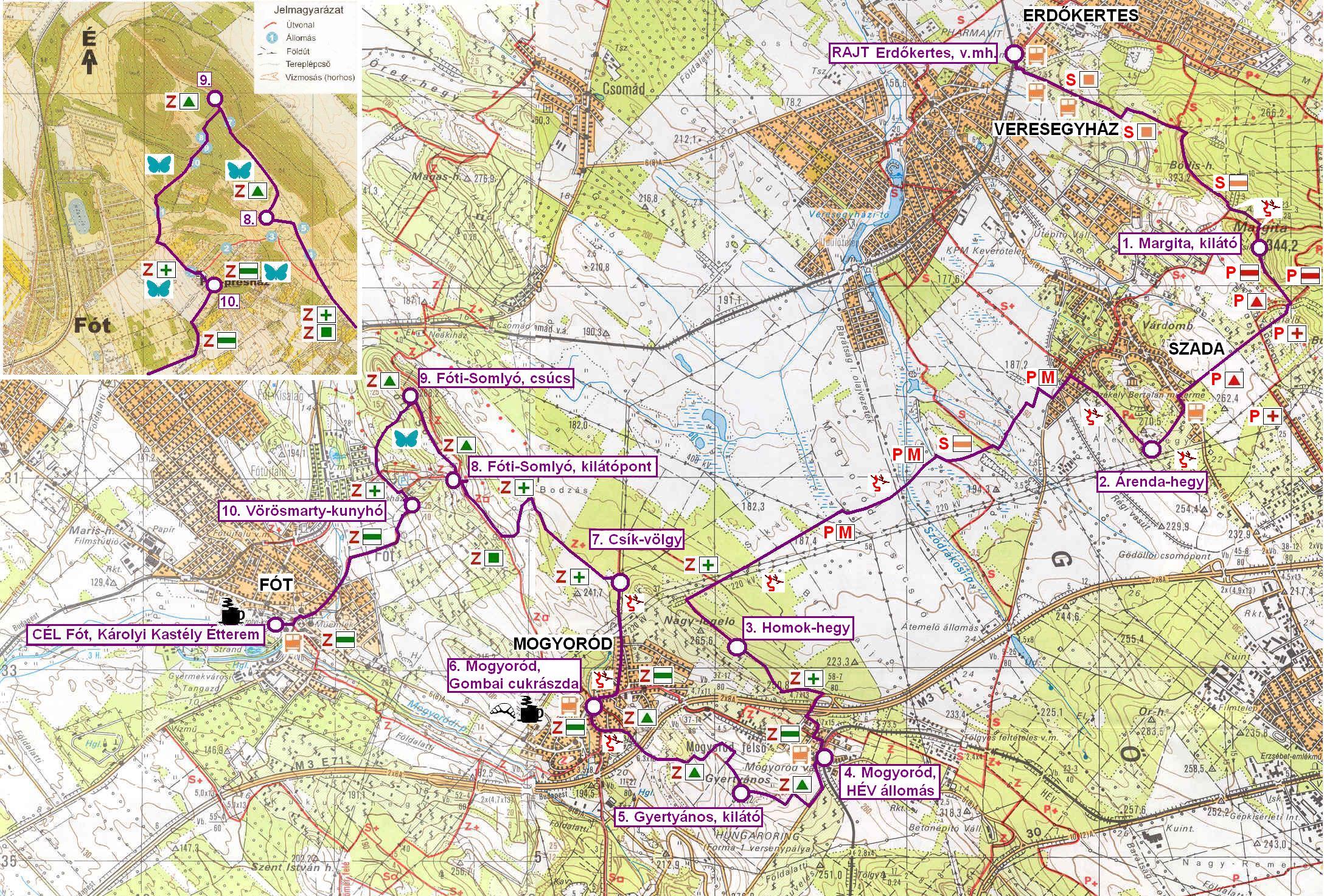fót térkép Fóti Somlyó 30 | TTT fót térkép