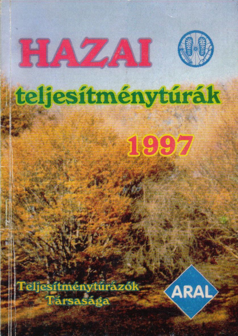Teljesítménytúra Naptár címlap 1997