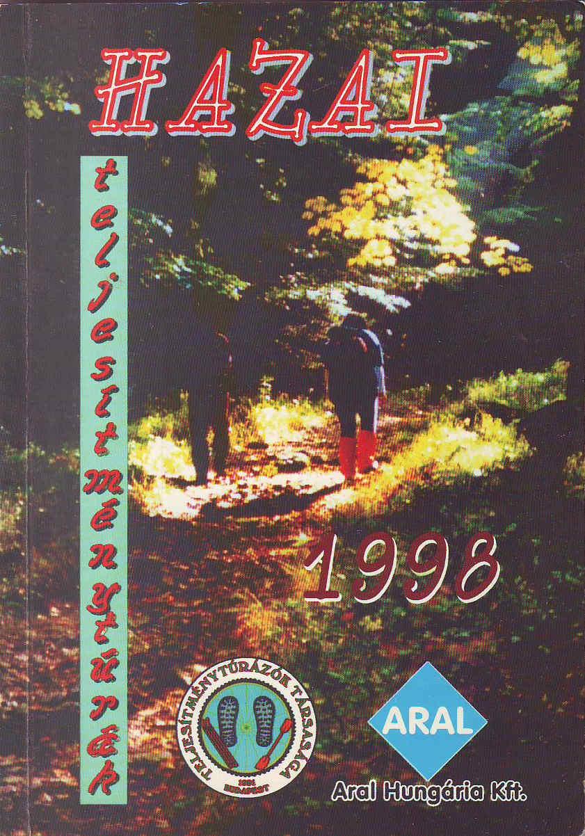Teljesítménytúra Naptár címlap 1998
