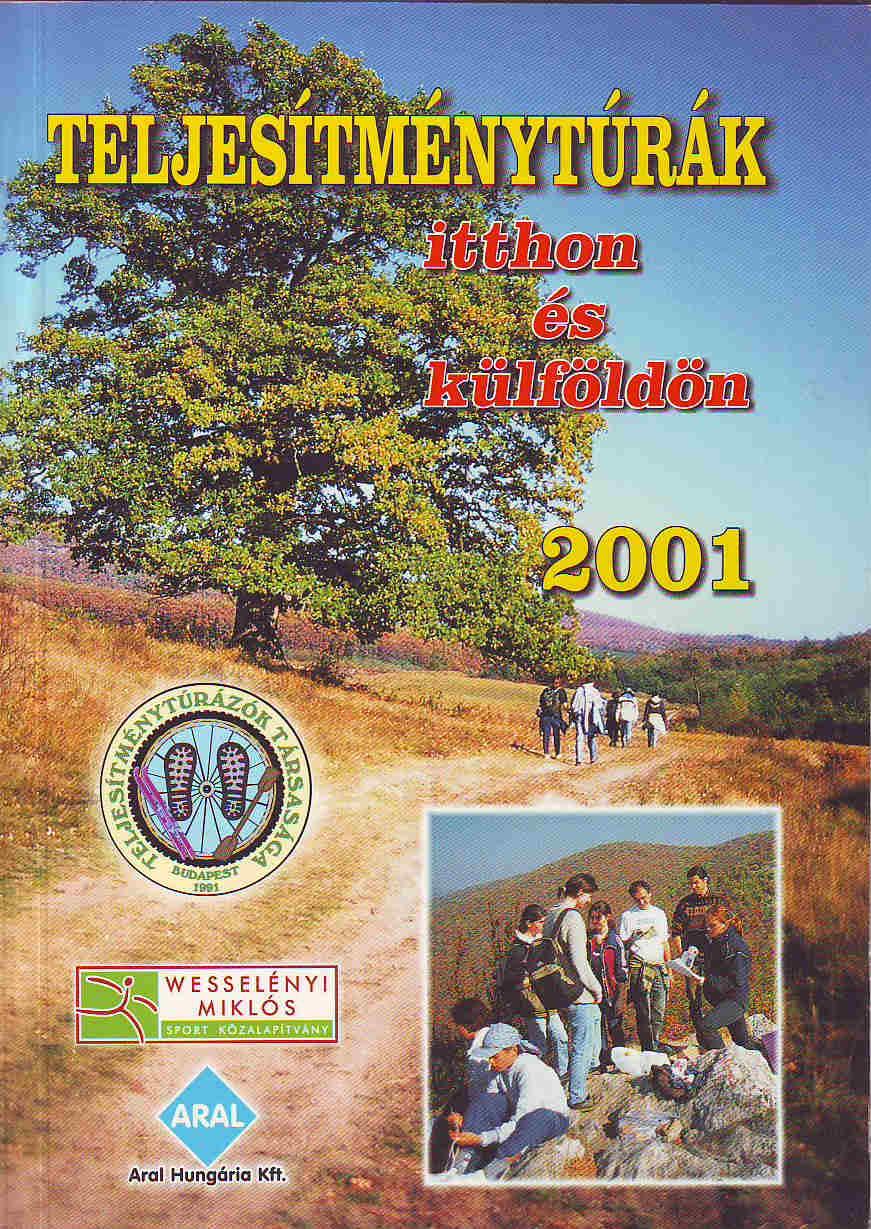 Teljesítménytúra Naptár címlap 2001