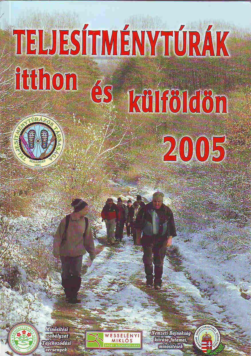 Teljesítménytúra Naptár címlap 2005
