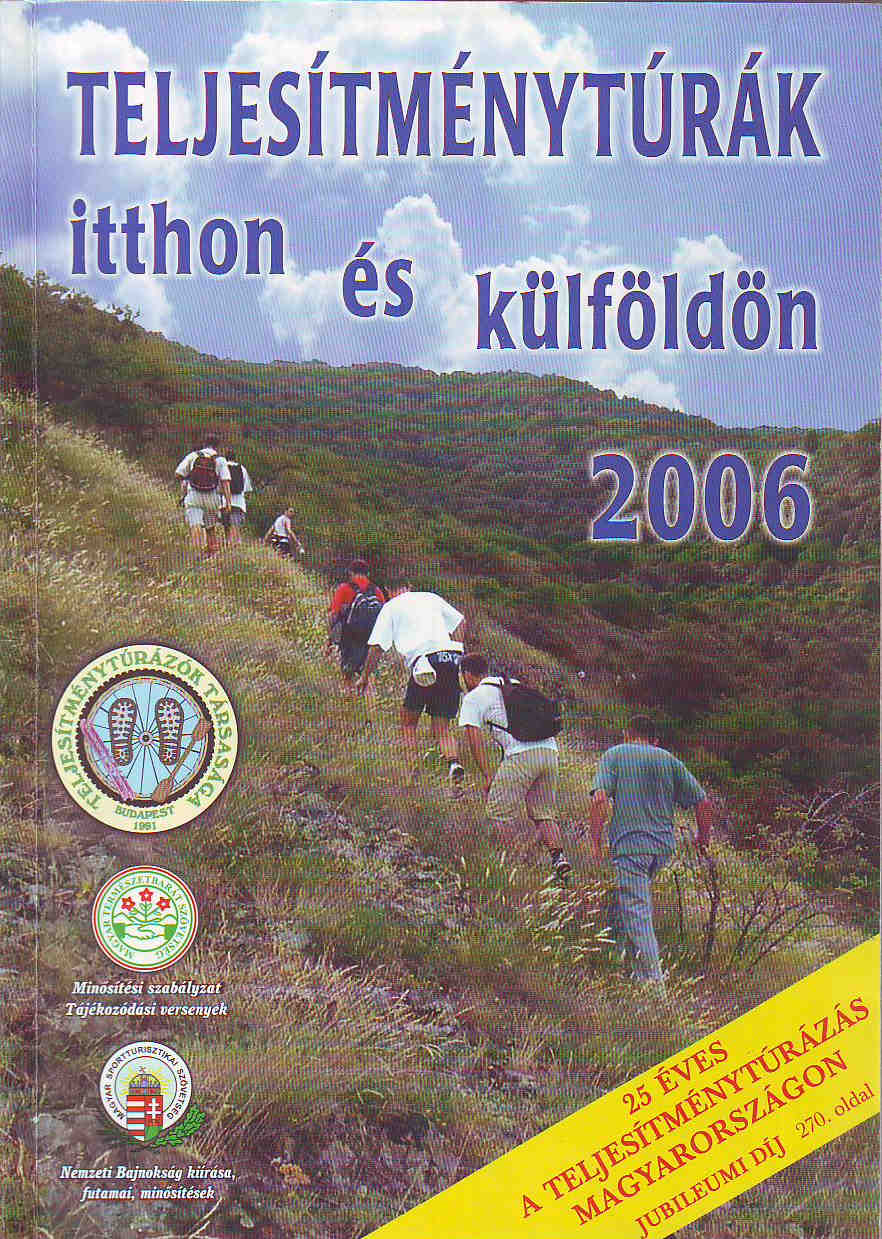 Teljesítménytúra Naptár címlap 2006