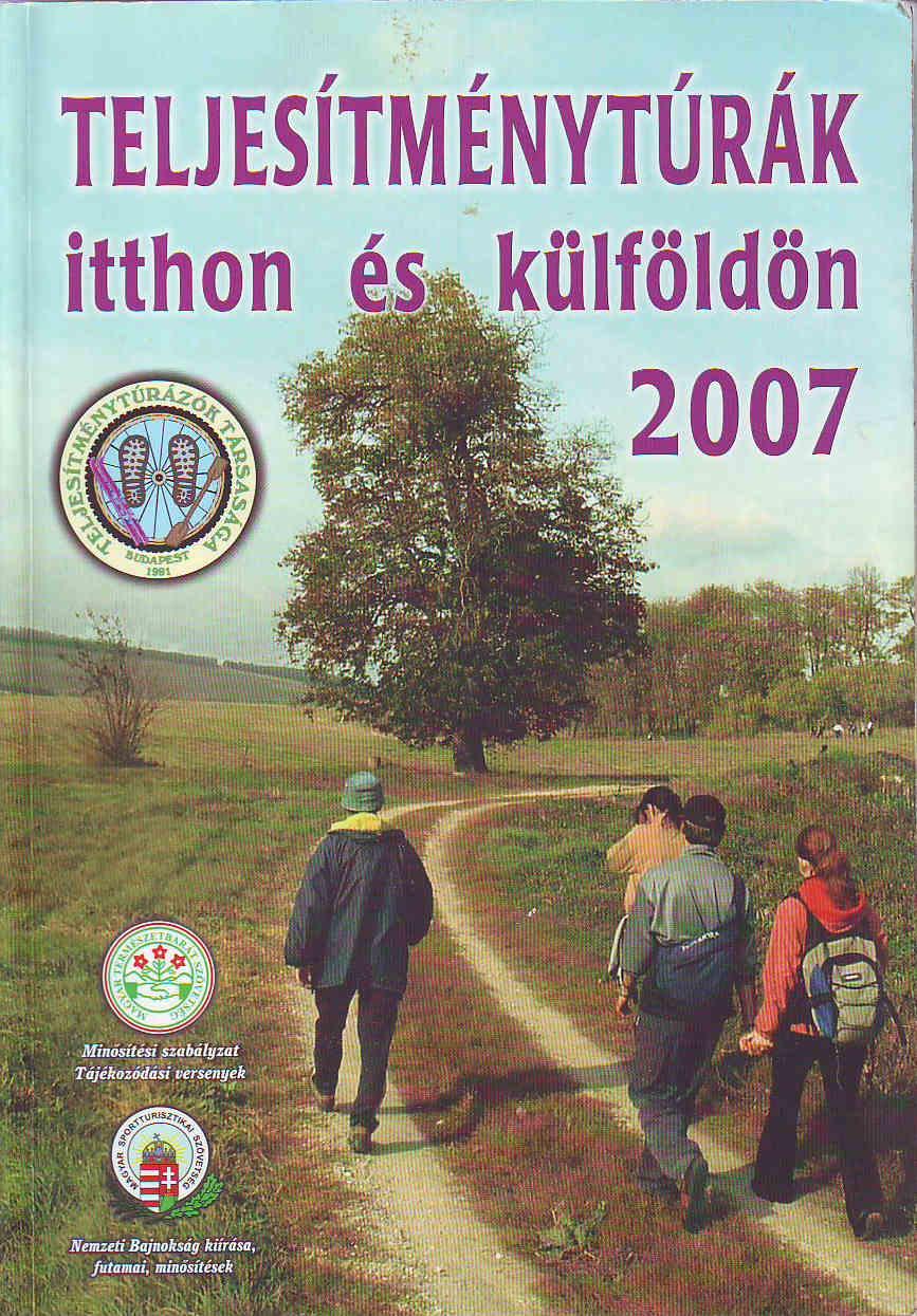 Teljesítménytúra Naptár címlap 2007