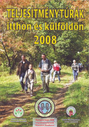 Teljesítménytúra Naptár címlap 2008