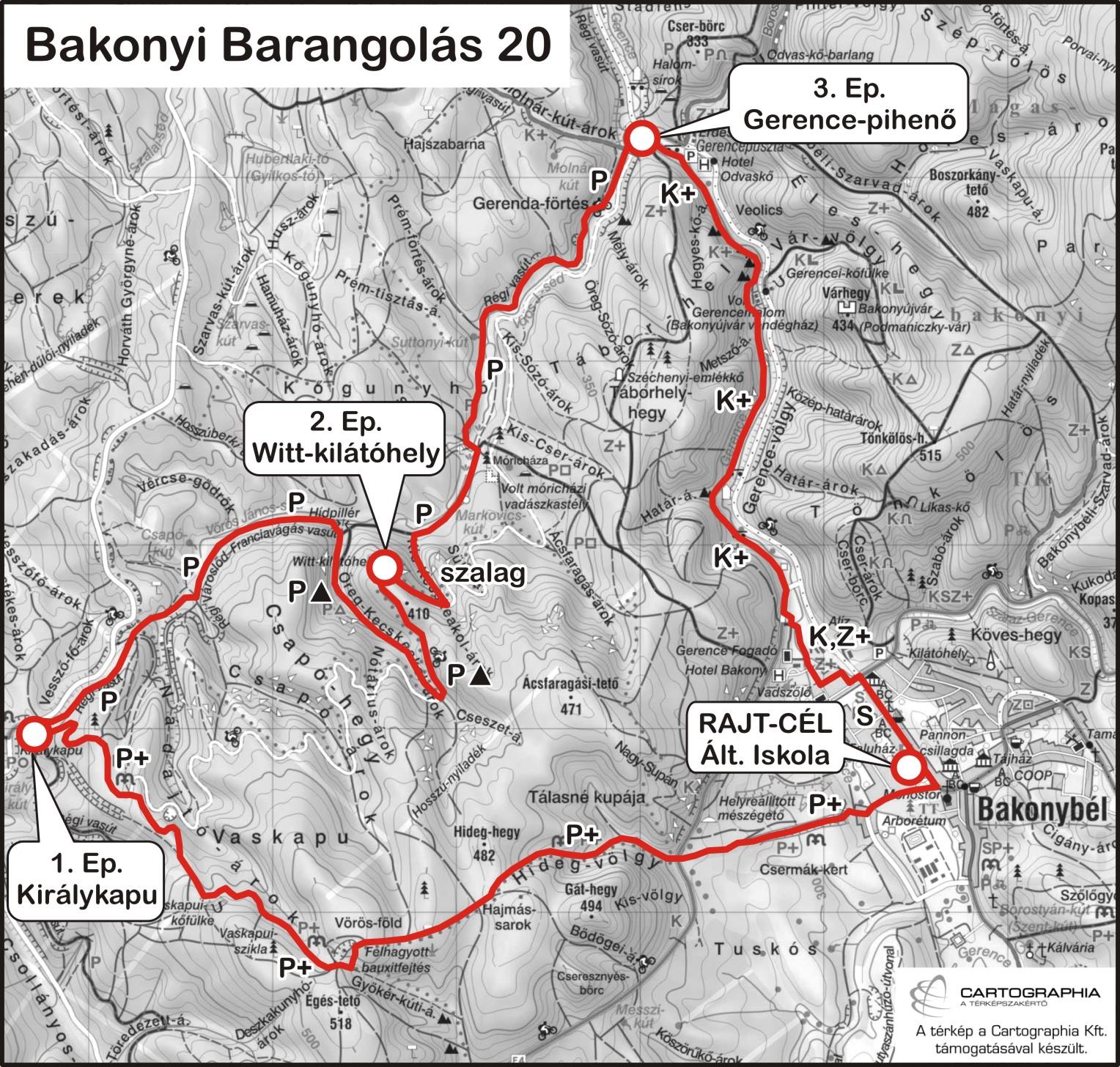 bakonybél túraútvonal térkép Bakonyi Barangolás 70/40/30/20/10 | TTT