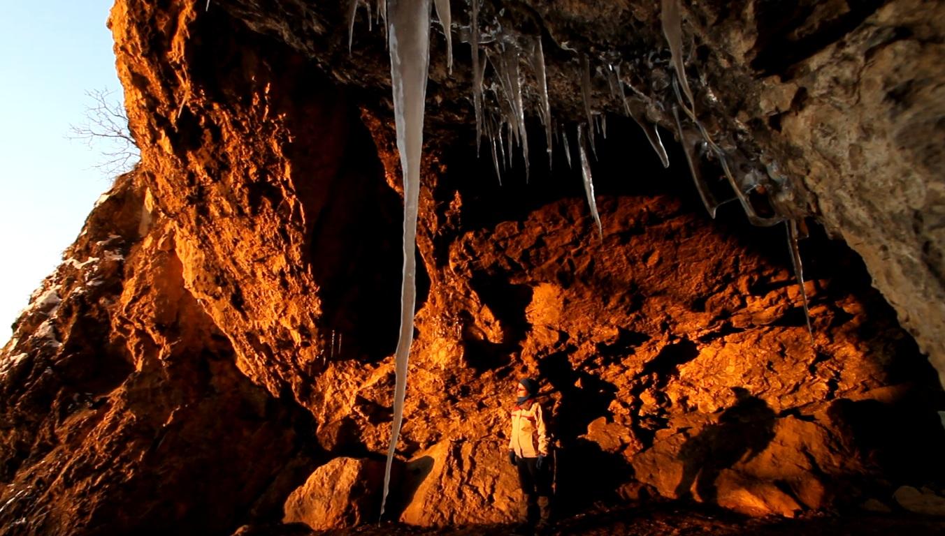 Legény-barlang, jégcsapok