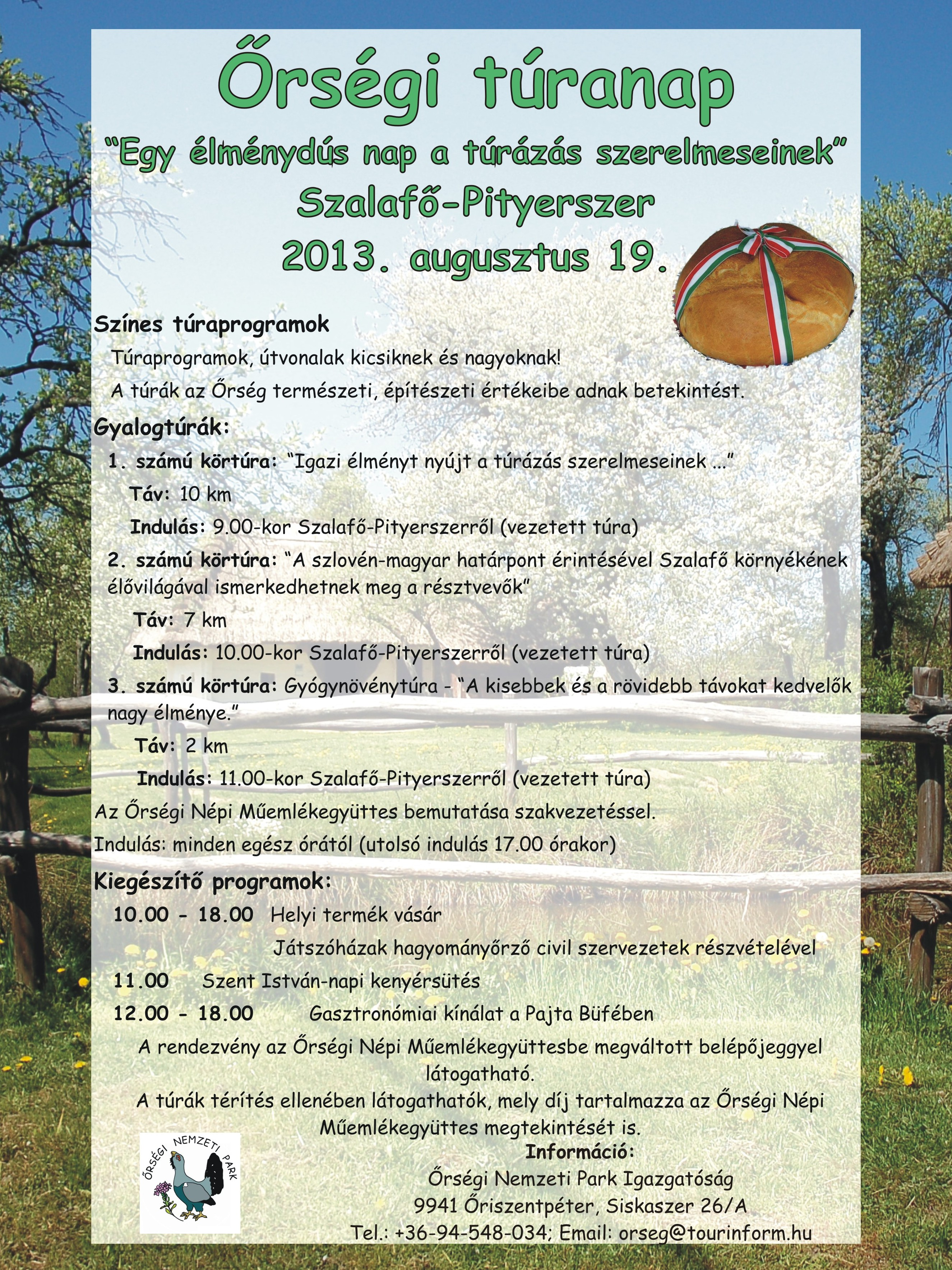 Őrségi Túranap - 2013. augusztus 19. Szalafő-Pityerszer