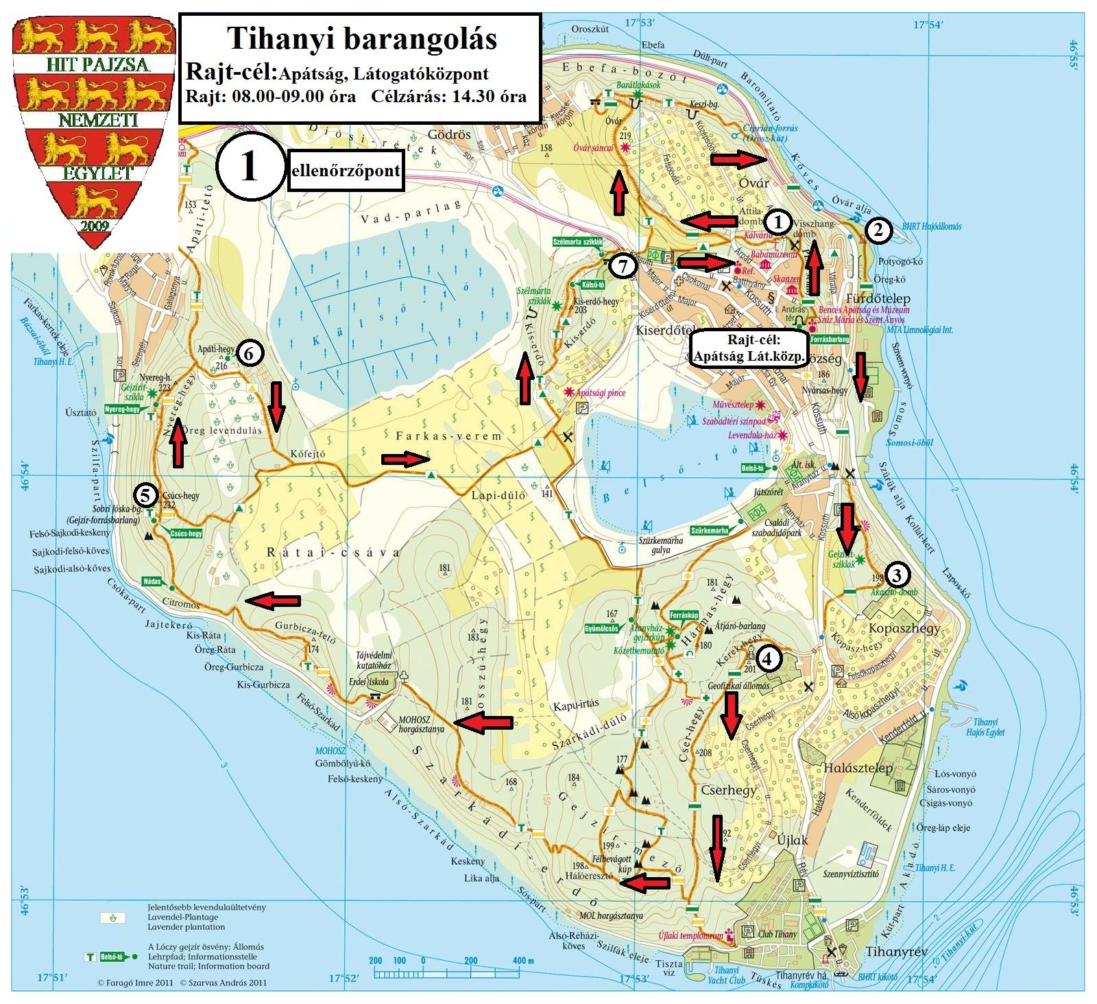 tihany térkép Barangolás a Tihanyi félszigeten 16 (Előnevezés! Időpont változott  tihany térkép