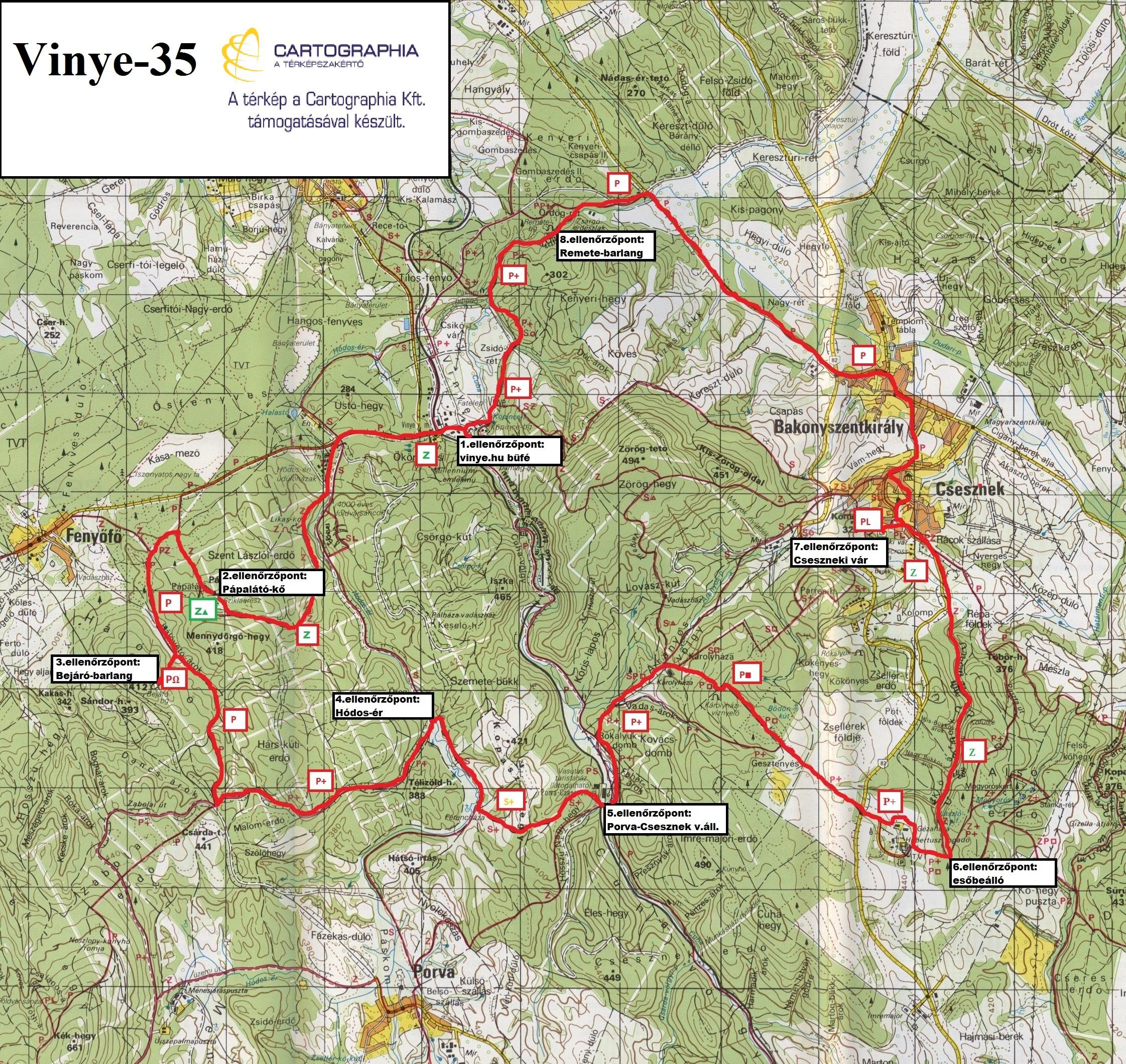 Vinye 35 térkép