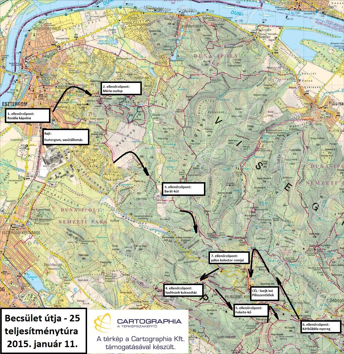 Becsület útja 25 térképvázlat
