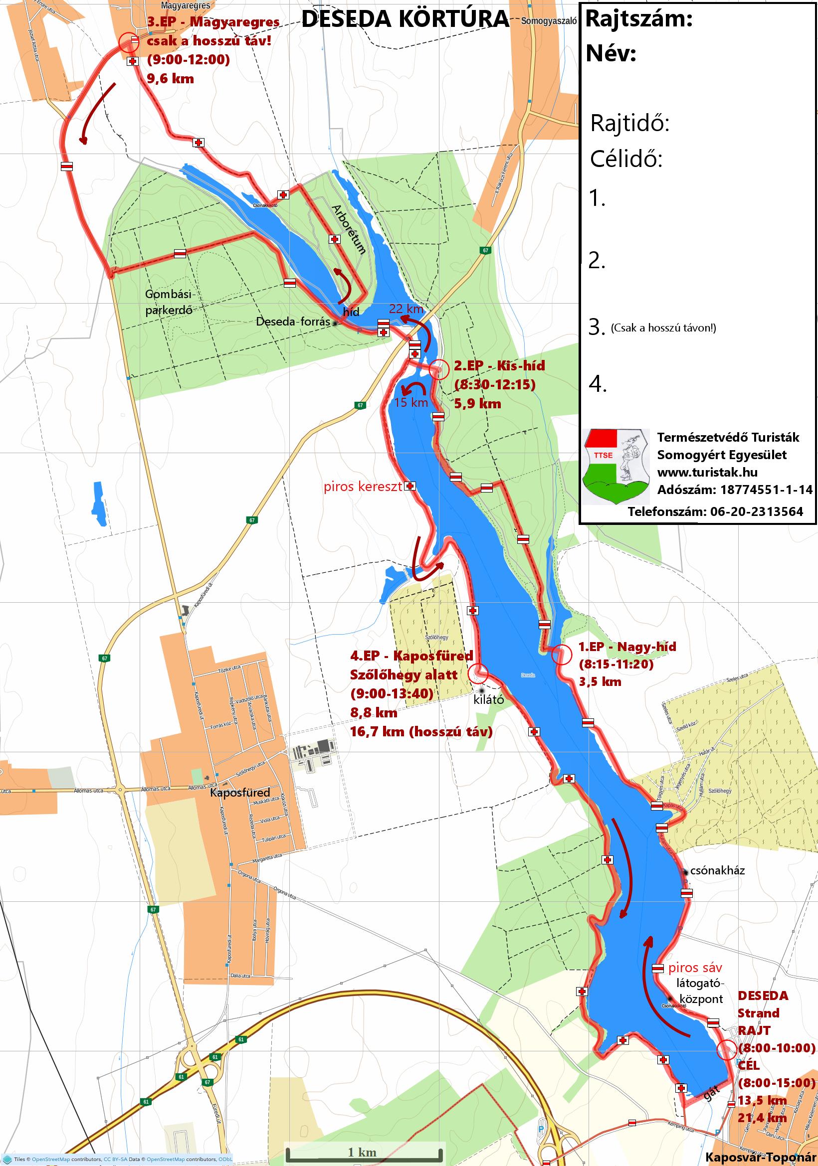 deseda kerékpárút térkép Deseda körtúra 22/15/22MTB/15K | TTT