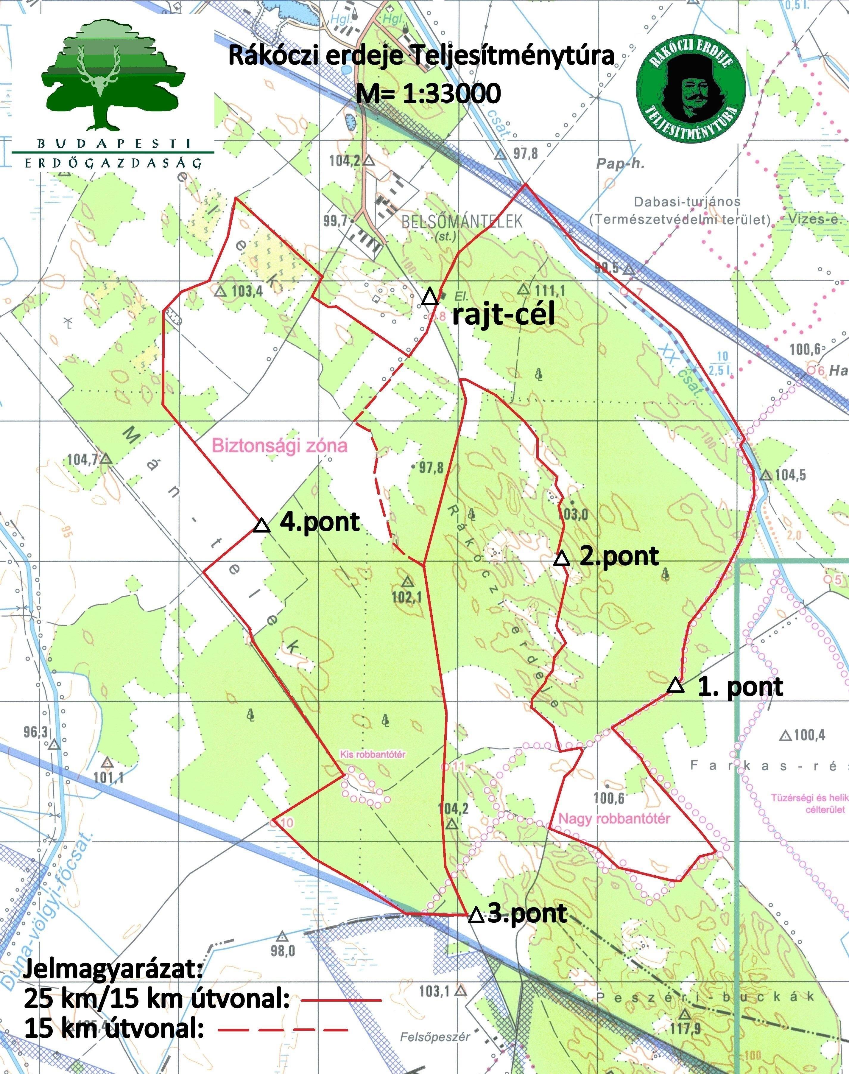 erdészeti térkép Rákóczi erdeje 25/15 (Új!) | TTT erdészeti térkép