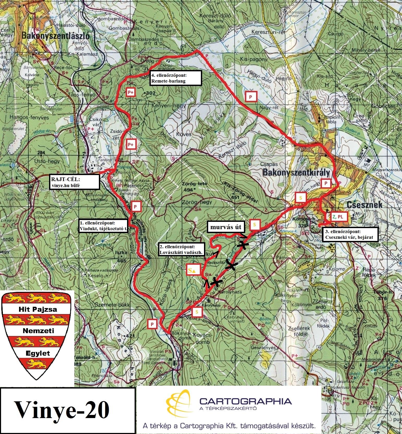 Vinye 20 térkép