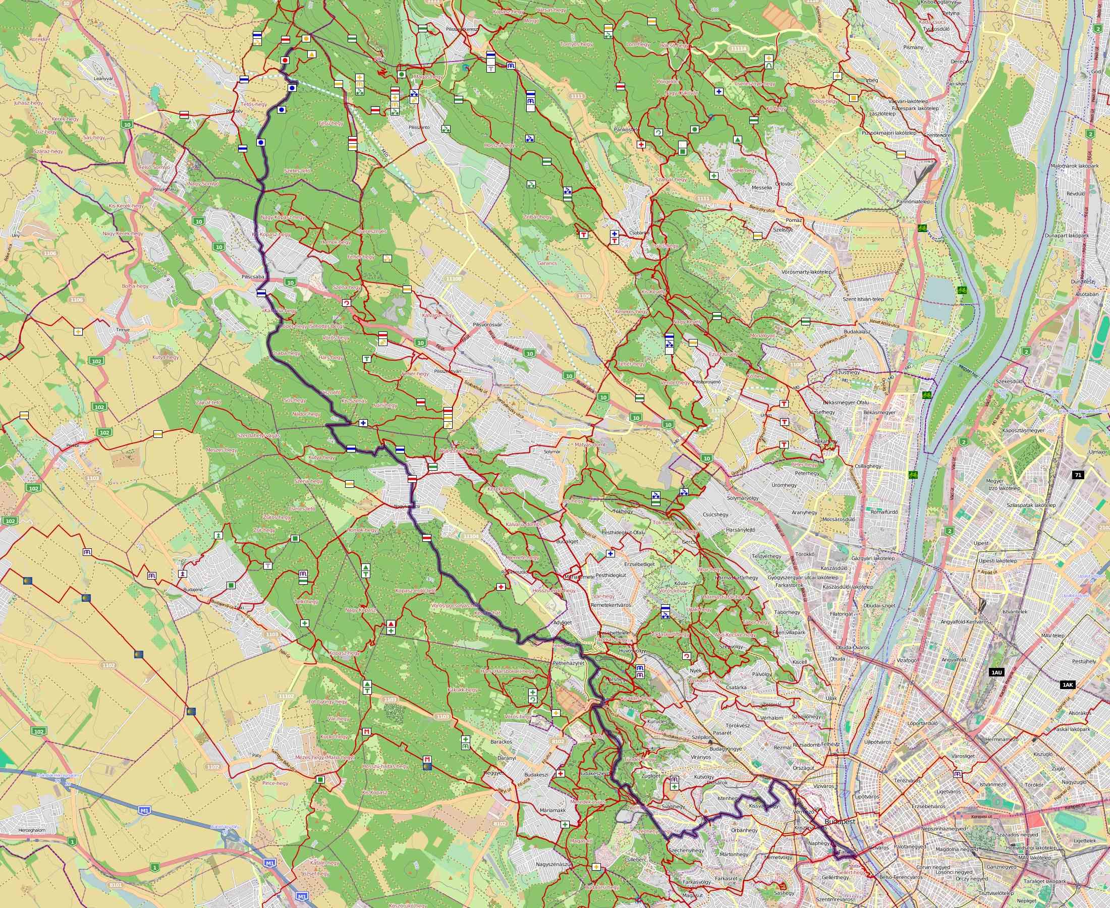 Eszperantó Zamenhof túra térkép