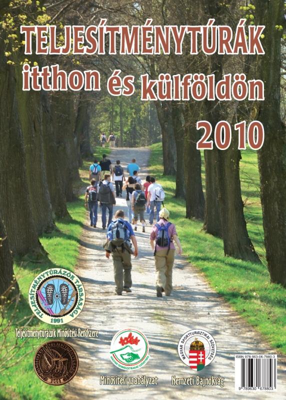Teljesítménytúra Naptár címlap 2010