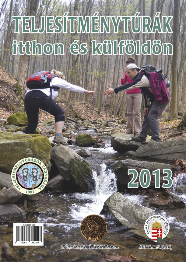 Teljesítménytúra Naptár címlap 2013